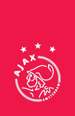 Ajaxi logo - valge-roosa