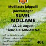 Mudilaste jalgpalli päevalaager toimub 22.-23.augustil Tabasalu Miniarenal