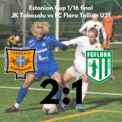 Esindus võitis Karikamängul FC Flora U21 seisuga 2:1