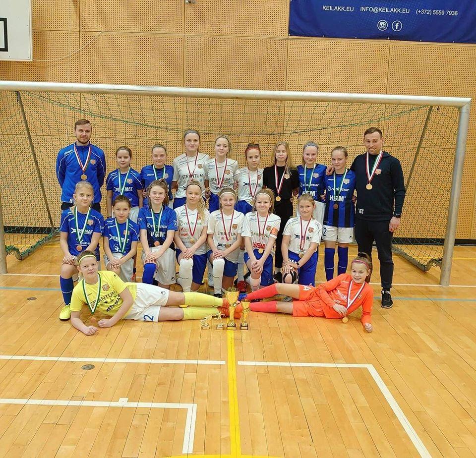 Tüdrukud tõid Keila Cupilt koju 1. ja 3. koha medalid