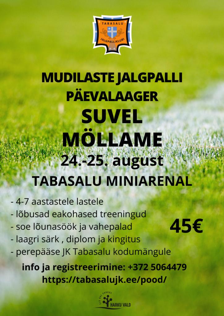 JK Tabasalu mudilaste jalgpalli päevalaager toimub 24.-25.augustil