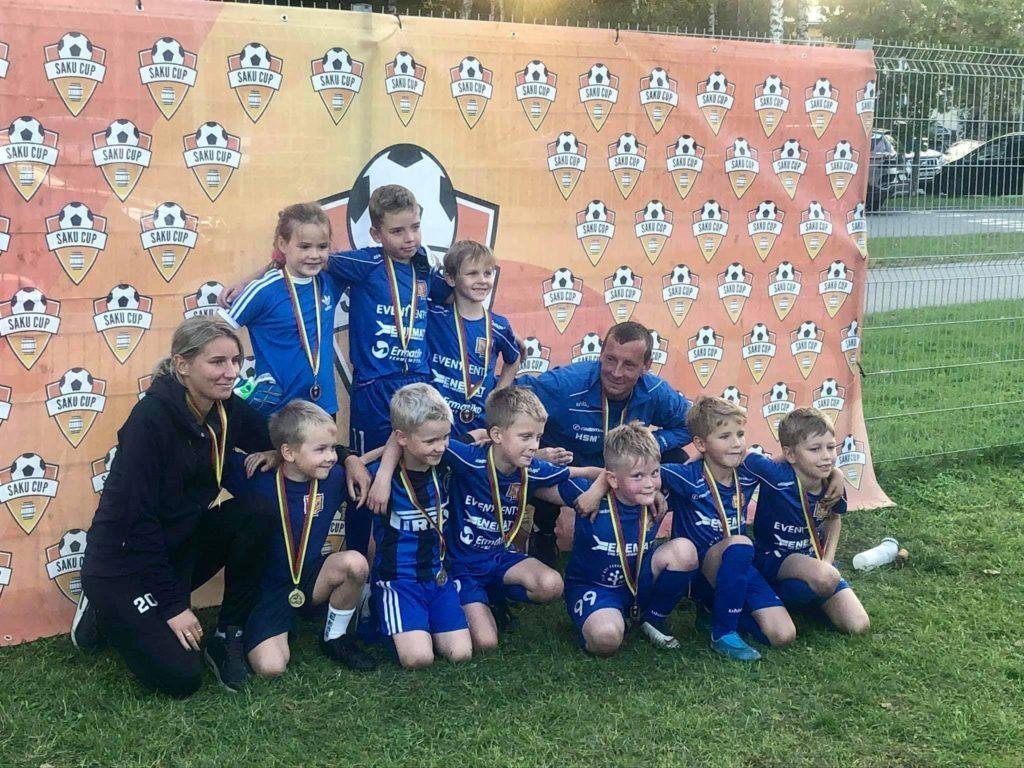 Meie kõige nooremad U8 poisid oma esimesel turniiril Saku Cupil