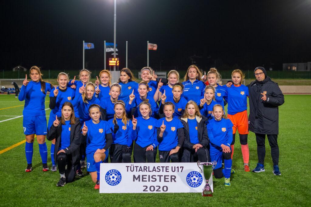 Tabasalu TU17 tüdrukud on Eliitliiga MEISTRID 2020