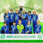 """2010 grupi poisid saavutasid Flora Nike Cupil """"Rõõm jalgpallist"""" 3.koha"""