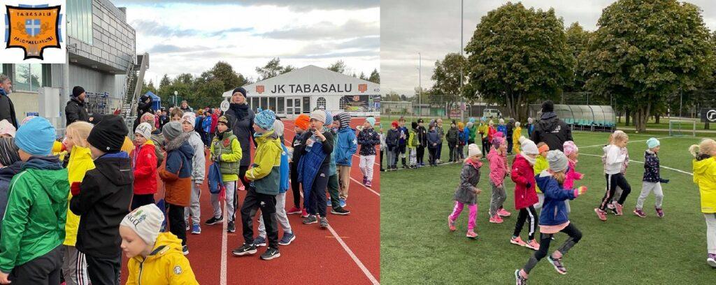 Meie treenerid Tabasalu Kooli spordipäeval näidistrenne läbi viimas