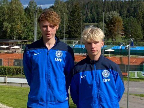 Klubi mängijad Hõim ja Pajo käisid Eesti U17 koondisega Käärikul treeningul