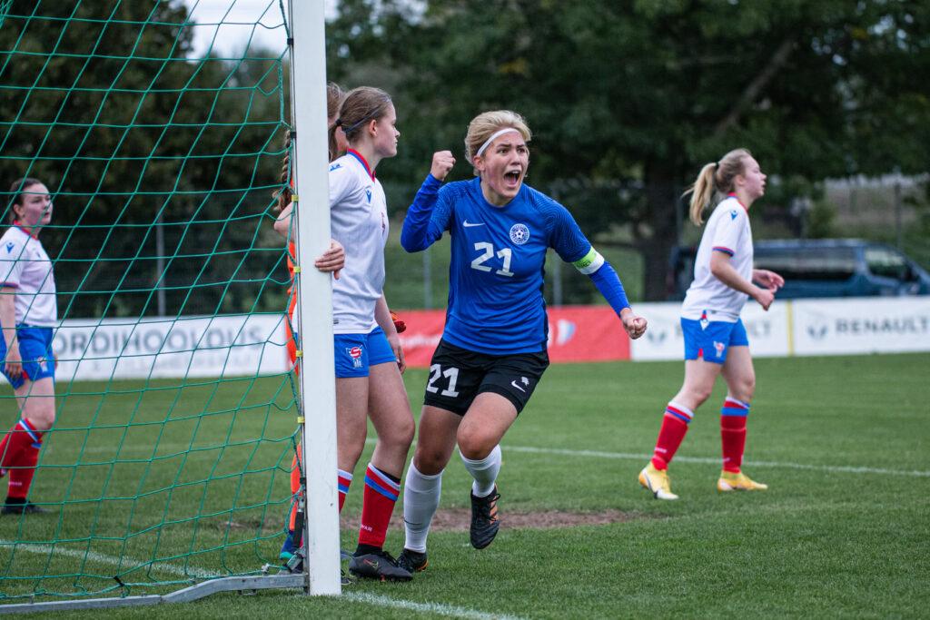 Neidude U19 koondise mängul võit Fääri saarte üle tuli Eestile